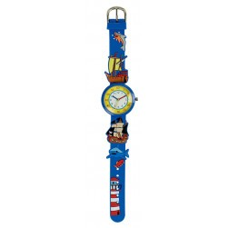 Montre d'apprentissage bleue