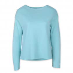 Pull Katell Col Bateau femme Turquoise