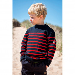 Pull marin Tim kid enfant marine/rouge