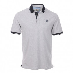 Polo homme manches courtes Marinier - gris chiné