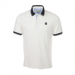 Polo homme manches courtes Marinier - craie