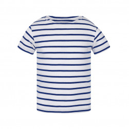 Tee-shirt marinière Mately kid blanc/royal