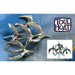 Broche Vol de Mouettes Toulhoat